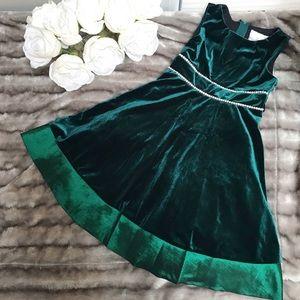 Rare Editions Embellished Velvet Dress